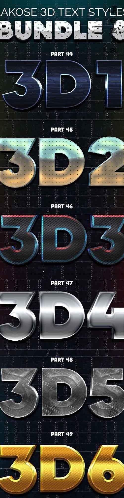 Lakose 3D Text Styles Bundle 8  - 26527596