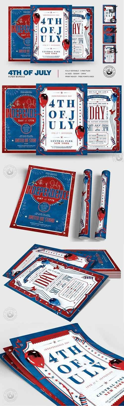 Independence Day Flyer Bundle - 5007417