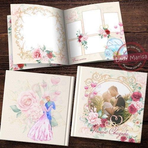 Свадебная фотокнига - Красные и розовые розы