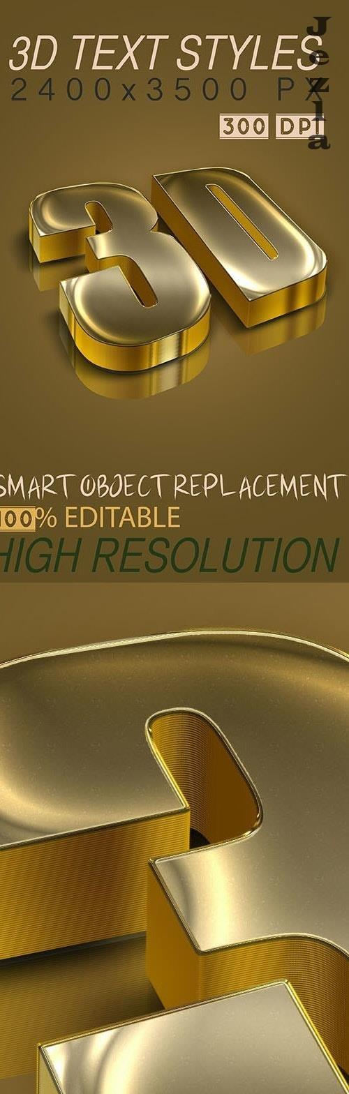 3D Text Styles Dark Gold 26693979