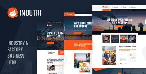 ThemeForest - Indutri v1.0 - HTML Template For Industry & Factory Business - 26785881