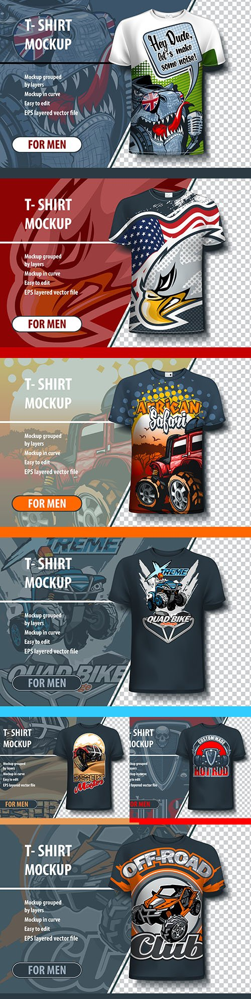 Design template T-shirt with logo for printing