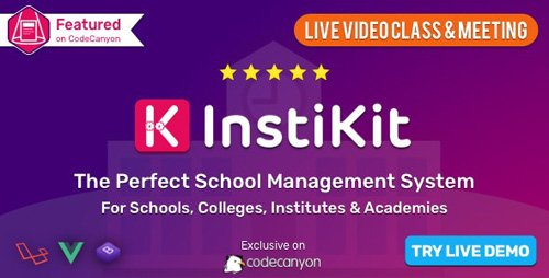 CodeCanyon - InstiKit School v2.8.0 - School Management System & School ERP - 22403067 - NULLED