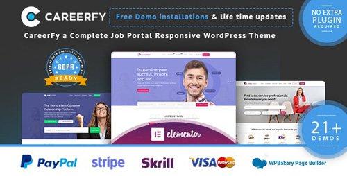 ThemeForest - Careerfy v3.9.0 - Job Board WordPress Theme - 21137053