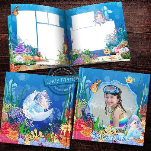 Детская морская фотокнига - Маленькая русалочка