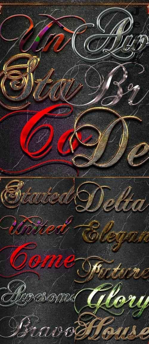 10 3D Text Styles Dark - 26785114