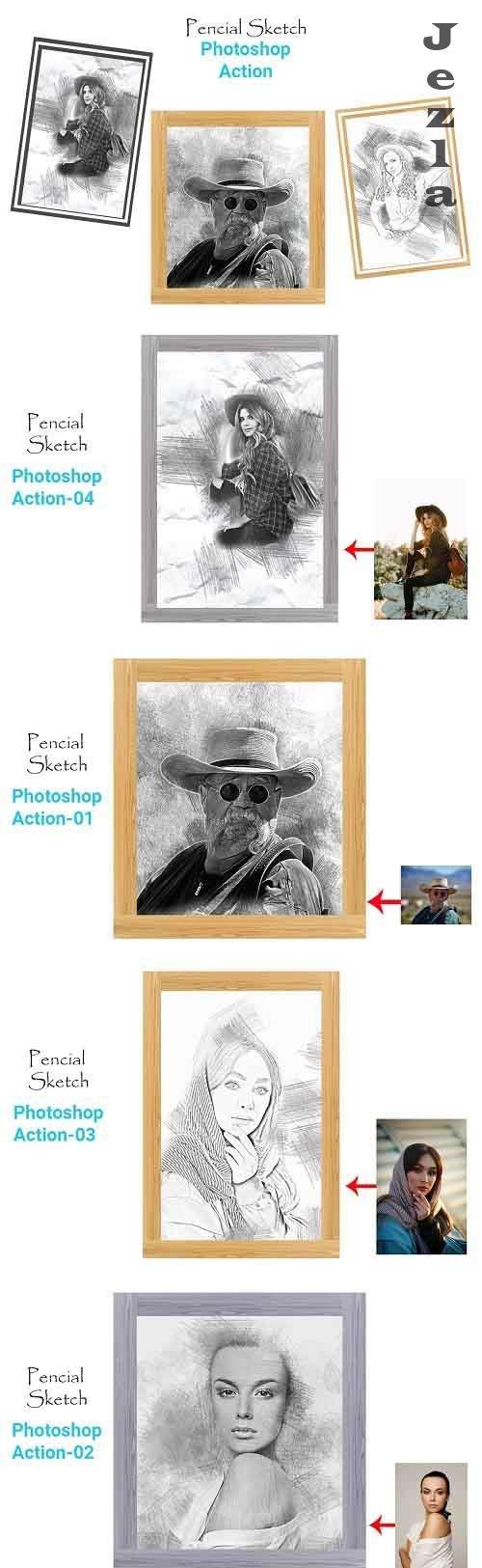 Pencil Sketch PHSP Action 4511165