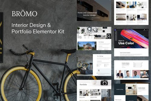 ThemeForest - Bromo v1.0 - Interior Design Portfolio Template Kit - 27128891
