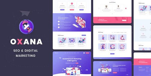 ThemeForest - Oxana v1.0 - SEO & Digital Marketing HTML Template - 25931281