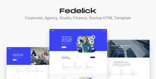 ThemeForest - Fedelick v1.0 - Corporate, Agency Multi-Purpose HTML Template - 27186410