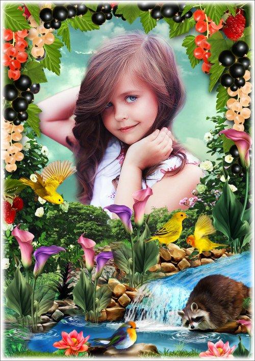 Рамка для фотошопа - Смородиновый сад