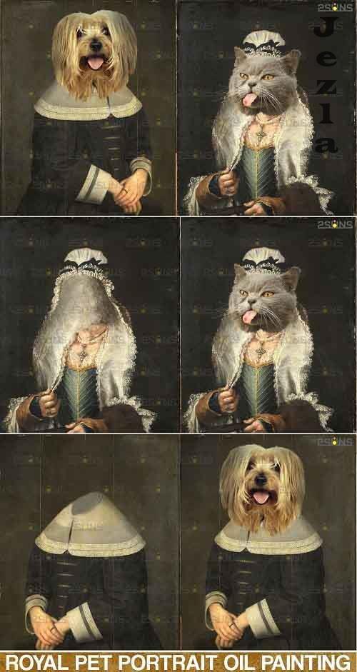 Royal Pet Portrait templates vol.4, Pet Painting - 685650