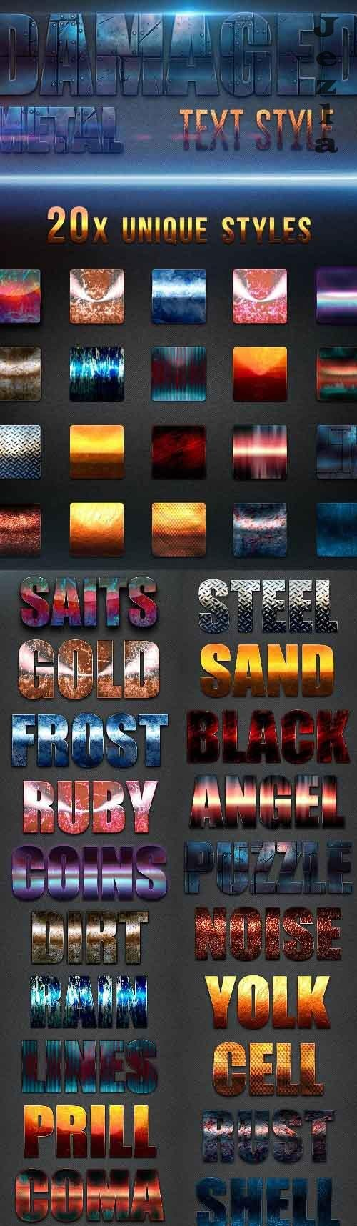 Damaged Metal Text Style v2 - 26883974