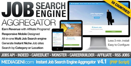 CodeCanyon - Instant Job Search Engine Aggregator v4.1 - 5541867