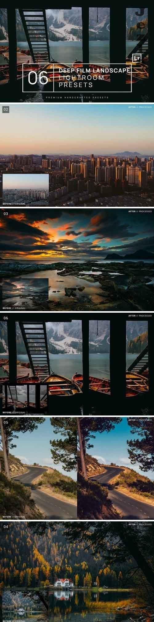 6 Deep Film Landscape LRM Presets + Mobile