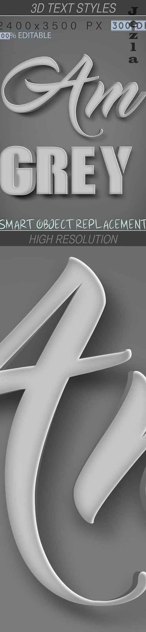 3D Text Styles Grey 26649735