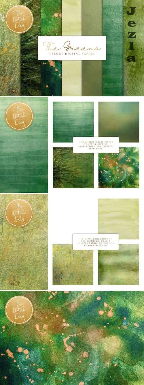 Green Paint Texture Backgrounds - 5101530