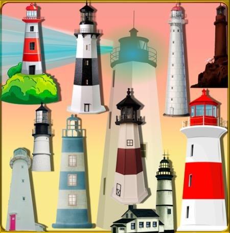 Прозрачные картинки для фотошопа - Морские маяки