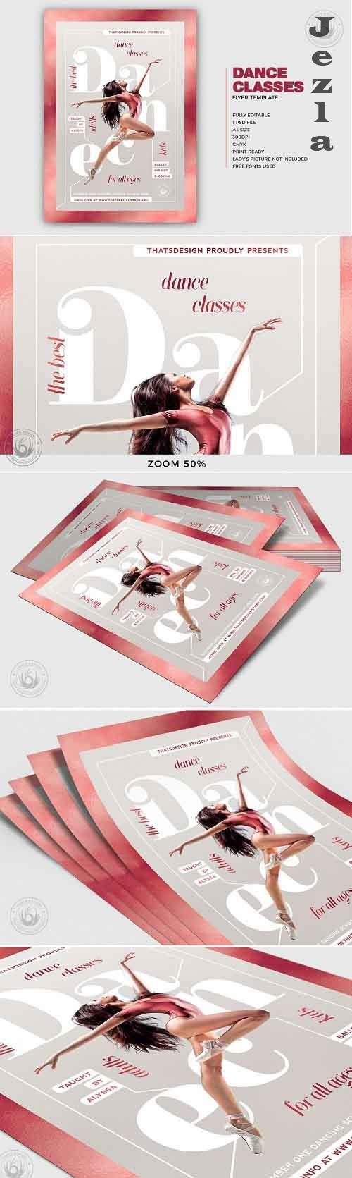 Dance Classes Flyer Template V4 - 5114647
