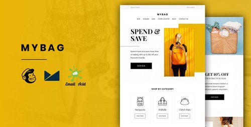 ThemeForest - MyBag v1.0 - E-commerce Responsive Email for Fashion & Accessories with Online Builder - 27445408