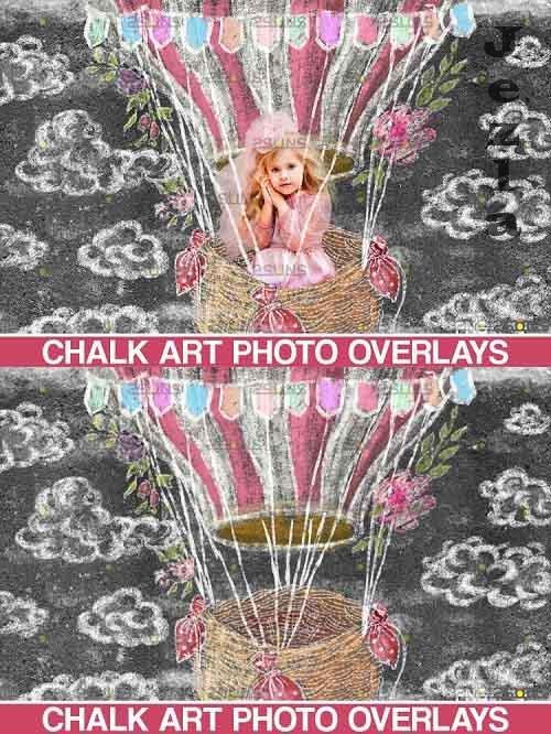 Sidewalk Chalk art Overlay, Aerostatico Chalk Art - 709586