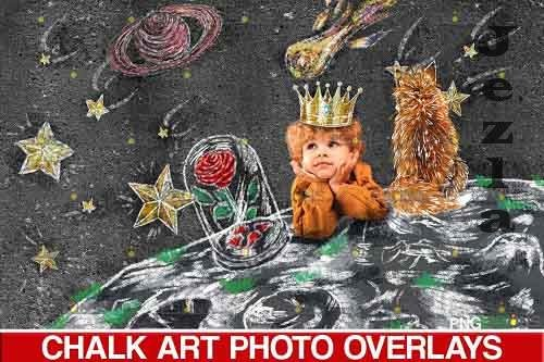 Sidewalk Chalk art Overlay, little Prince le petit prince  - 709601