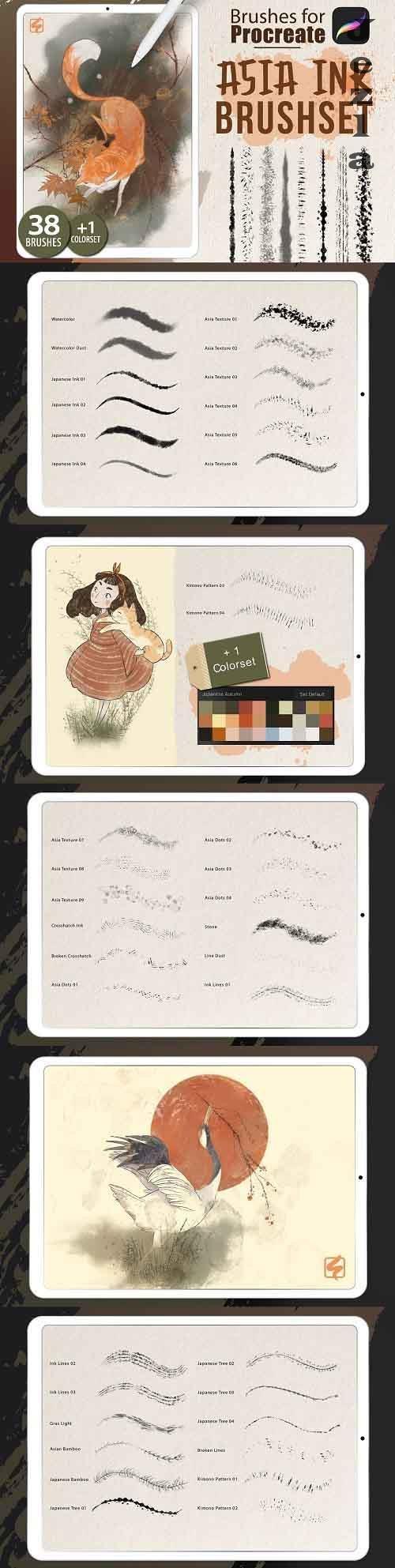 Procreate - Asia Ink Brushes - 5128852