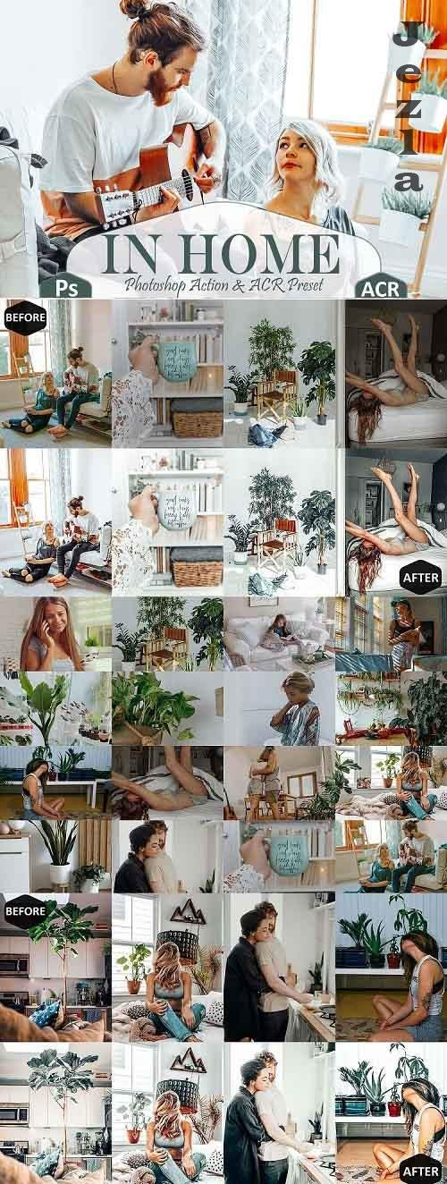 10 In Home PHSP Actions And ACR Presets, indoor theme - 532468