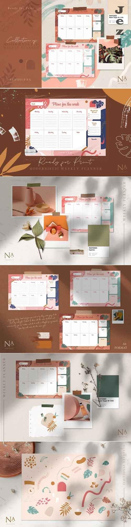 Modernistic Weekly Planner - 4341893