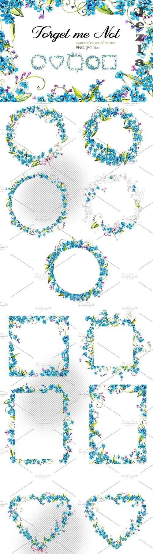 Frame from forget-me-not - 3816751