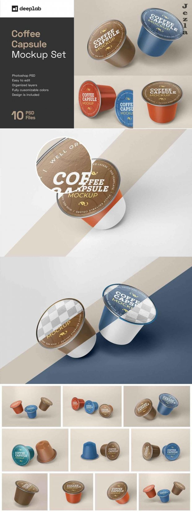 Coffee Capsule Mockup | Packaging 5135762