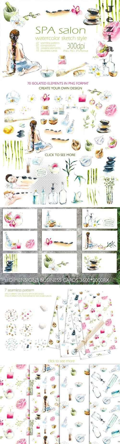 Watercolor SPA salon - 4265000