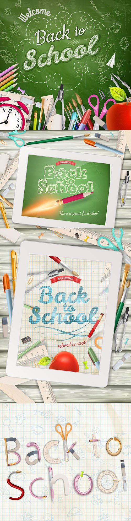 Back to school and accessories collection illustration 42