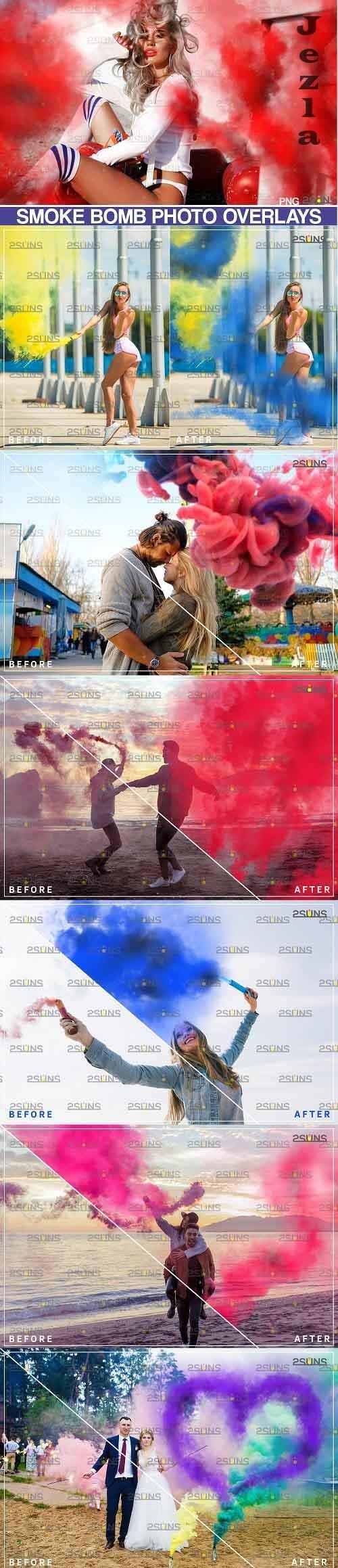 Gender reveal smoke overlay, Colorful Smoke bomb - 719322