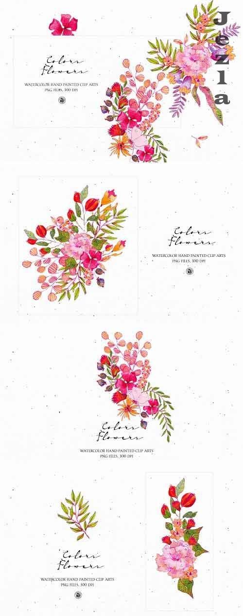 Colors Flowers - watercolor set - 5140394