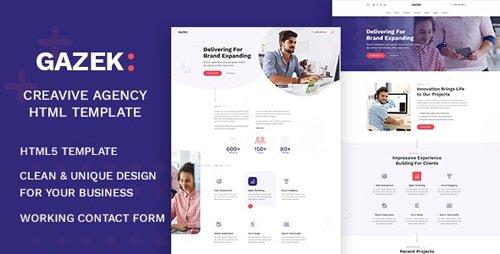 ThemeForest - Gazek v1.0 - Agency Portfolio HTML Template - 27035373
