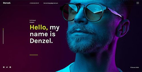ThemeForest - Denzel. v1.0 - Onepage Personal HTML Template - 27502619
