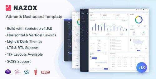 ThemeForest - Nazox v1.0 - Admin & Dashboard Template - 26819788