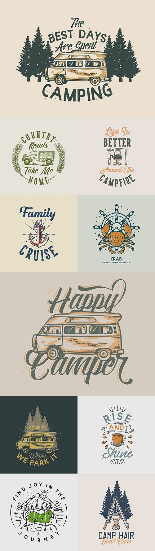 Brand name vintage logos business corporate design