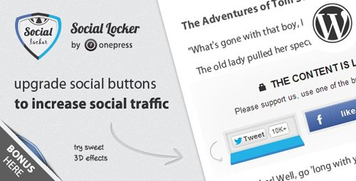 CodeCanyon - Social Locker for WordPress v5.6.2 - 3667715 - NULLED