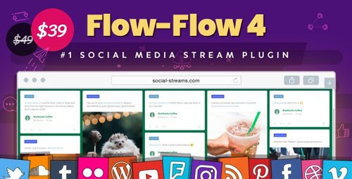 CodeCanyon - Flow-Flow v4.6.1 - Facebook Instagram Twitter Feed - WordPress Social Stream & Grid Gallery Plugin - 9319434