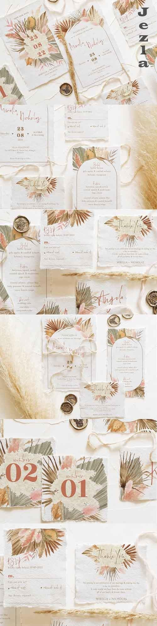 Bohemian Dried Foliage Wedding Suite - 5151657