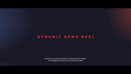 Dynamic Demo Reel 21661659 - Project for After Effects (Videohive)