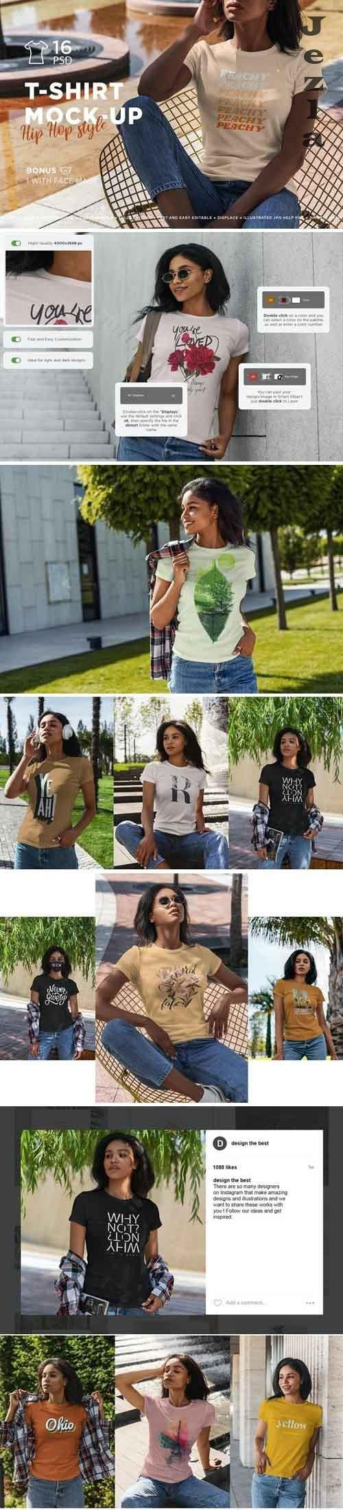 T-Shirt Mock-Up Hip Hop Style - 5066281
