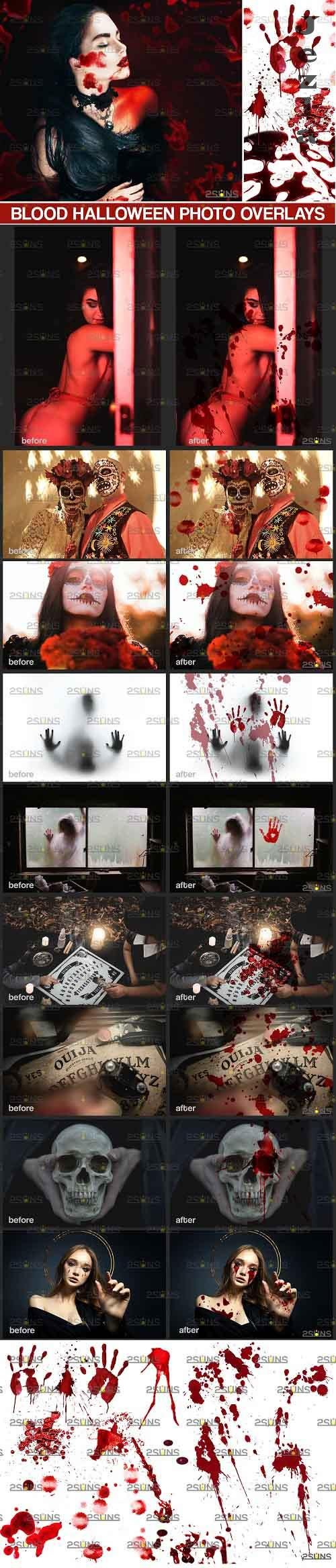 Blood Photo Overlay, Halloween overlay, blood splatter  - 719439