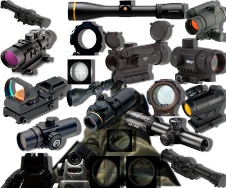 Png клипарты без фона - Оружейные прицелы