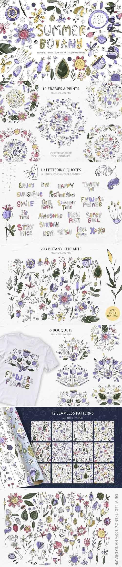 Summer Botany. Floral Graphic Pack - 5149907