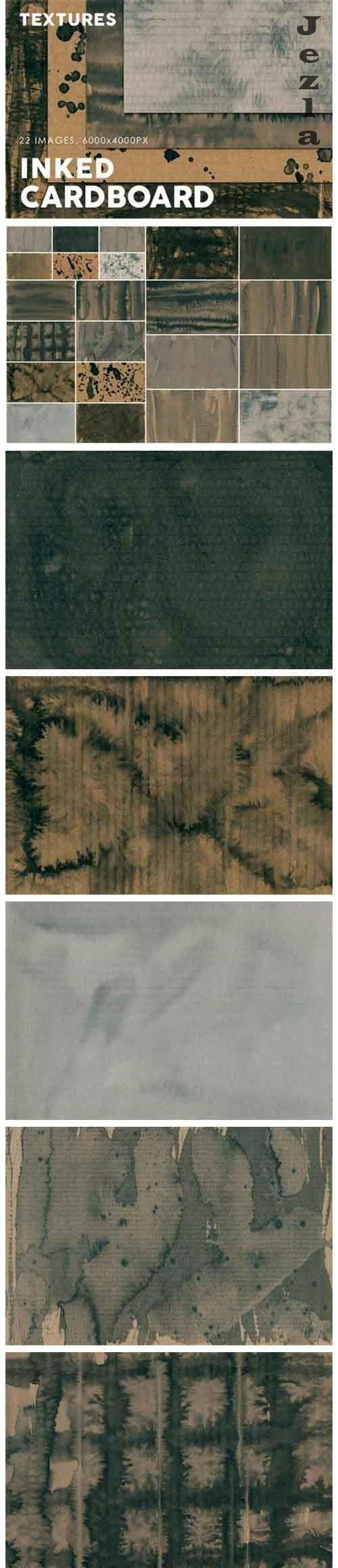 Inked Cardboard Textures  - 728408