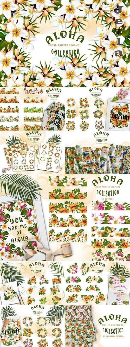 Aloha Hand Painted Tropical Collection - 725583