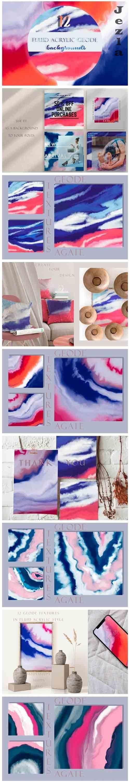 Vivid Geodes. Acrylic Agate Textures - 5172242